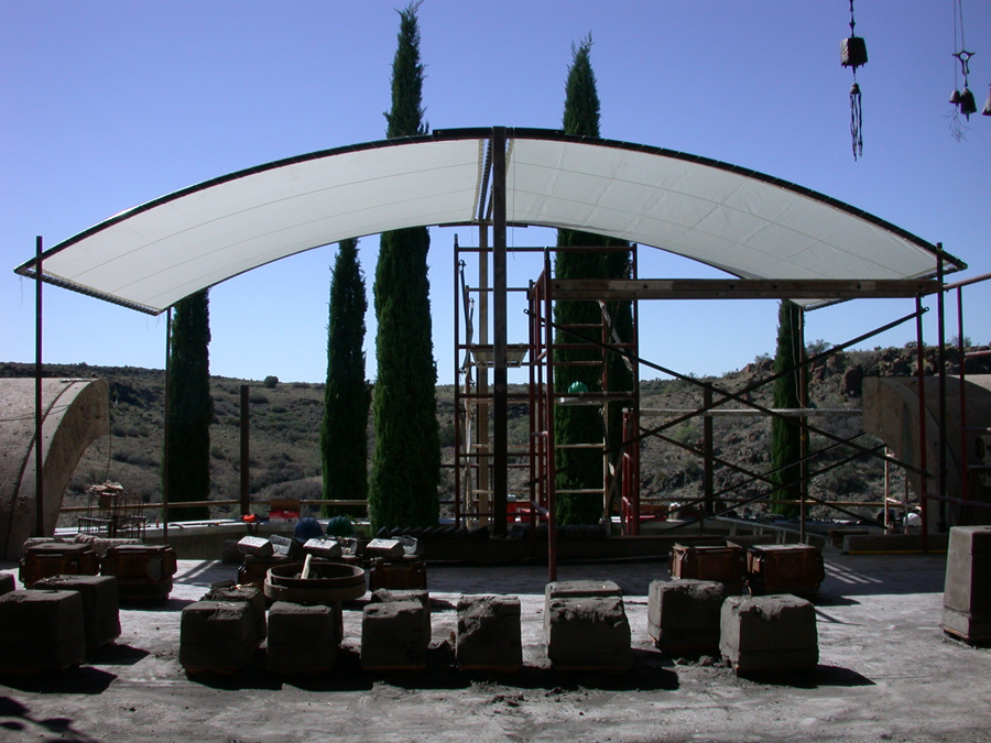 Bronze foundry shade structures schwambell for Steel shade structure design